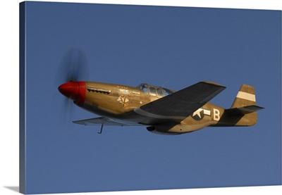 P-51C Mustang flying over Chino Hills, California