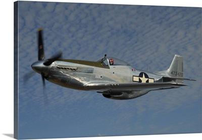 P-51D Mustang flying over Santa Rosa, California