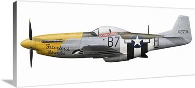 P-51D Mustang, nicknamed Ferocious Frankie