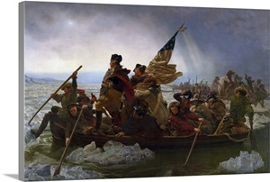 Painting Of George Washington Crossing The Delaware Wall