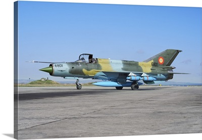 Romanian Air Force MiG-21 Lancer on the ramp at Camp Turzii