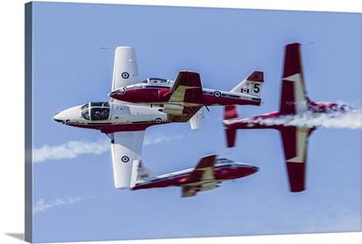 Royal Canadian Air Force CT-114 Tutor aircraft of the Snowbirds display team
