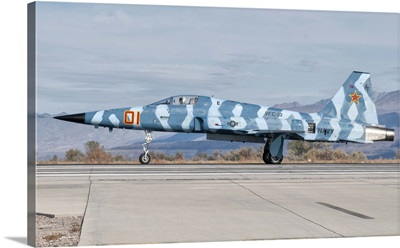 Side view of a F-5E Freedom Fighter aircraft