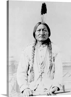 Sitting Bull, a Hunkpapa Lakota tribal chief