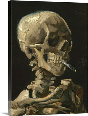 Skull of a Skeleton with Burning Cigarette painting by Vincent van Gogh, 1886