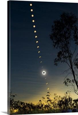 Solar eclipse composite, Queensland, Australia
