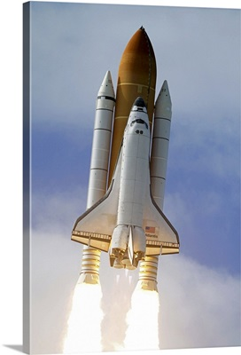 Space Shuttle Atlantis lifts off from Kennedy Space Center Florida