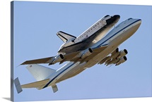 Space Shuttle Endeavour mounted on a modified Boeing 747 shuttle carrier aircraft