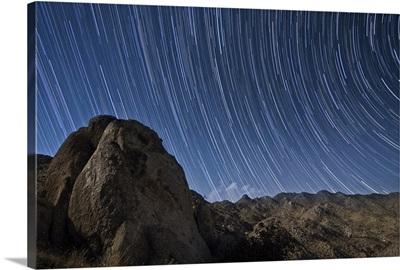Star trails above the San Ysidro Mountains, California