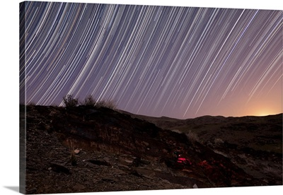 Star trails and rock art in the central province of Iran