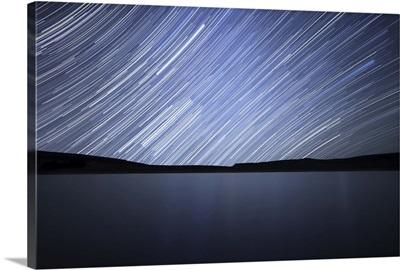Star trails of the celestial equator in Somuncura, Argentina