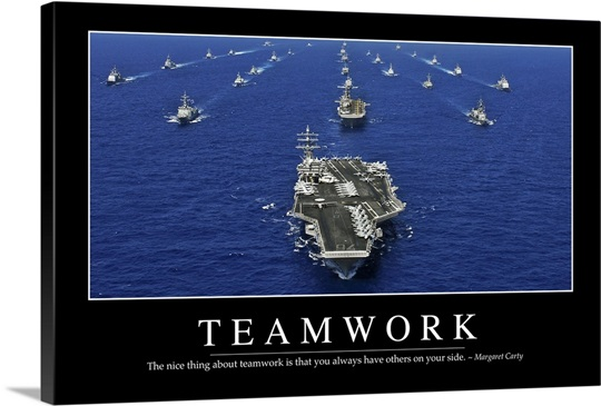 Teamwork Inspirational Quote And Motivational Poster