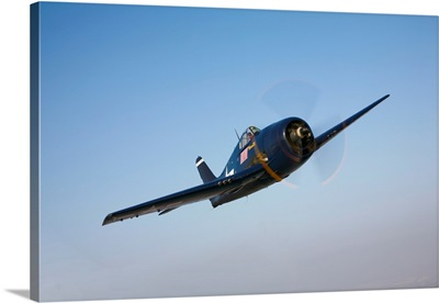 The Commemorative Air Forces F6F 5 Hellcat in flight