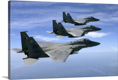 The F-15 Eagle's final training mission over the the Atlantic Ocean