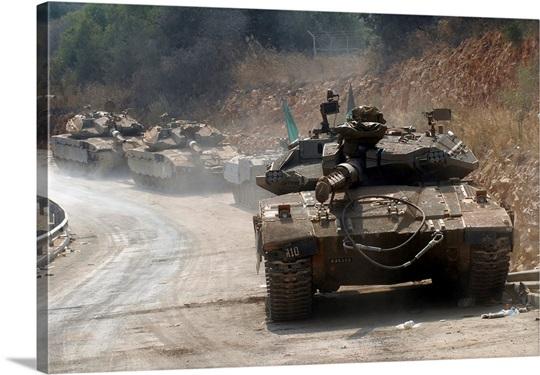 The Merkava Mark IV main battle tank of the Israel Defense Forces