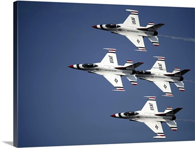 The U.S. Air Force Thunderbird demonstration team