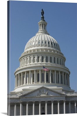 The United States Capitol building dome and statue
