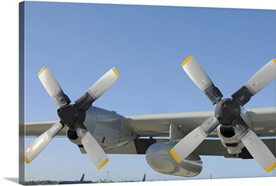The wings of an LC 130 Hercules