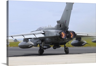Tornado GR4 of the Royal Air Force taking off from RAF Lossiemouth
