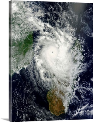 Tropical cyclone Hellen spins offshore Madagascar