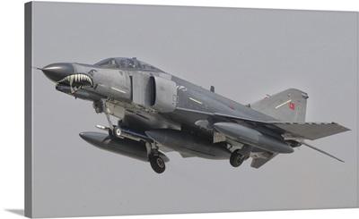 Turkish Air Force F-4 Phantom flying over Turkey