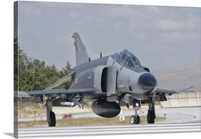 Turkish Air Force F-4 Phantom taxiing at Konya Air Base, Turkey