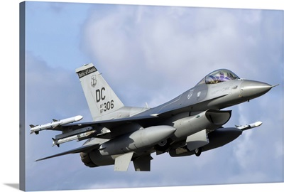 U.S. Air Force F-16 Fighting Falcon flying over Brazil