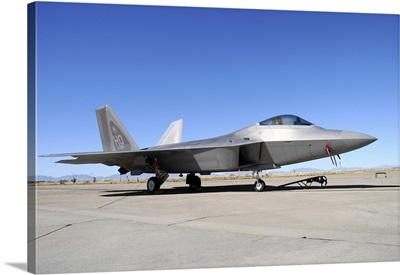 U.S. Air Force F-22A Raptor at Holloman Air Force Base, New Mexico