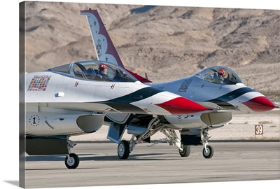 U.S. Air Force Thunderbirds on the ramp at Nellis Air Force Base, Nevada