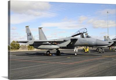 U.S. Air Forces Europe F-15C Eagle at Albacete Air Base, Spain