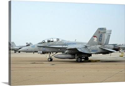 U.S. Navy F/A-18D Hornet at Naval Air Station Oceana, Virginia