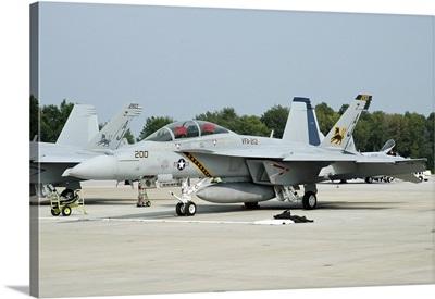 U.S. Navy F/A-18F Super Hornet at Naval Air Station Oceana, Virginia