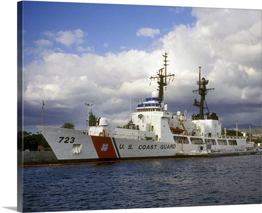 United States Coast Guard Cutter Rush docked in Pearl Harbor Hawaii