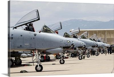 US Air Force A-10 Thunderbolt II aircraft at Davis Monthan Air Force Base