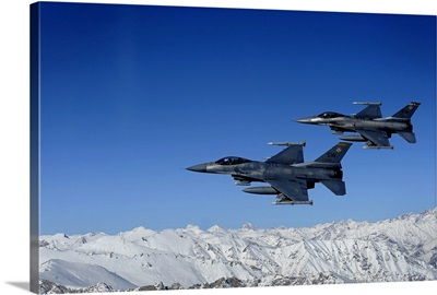 US Air Force F16 Fighting Falcons conduct operations over eastern Afghanistan