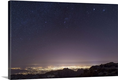 View from Mount Lemmon overlooking the city of Tucson, Arizona