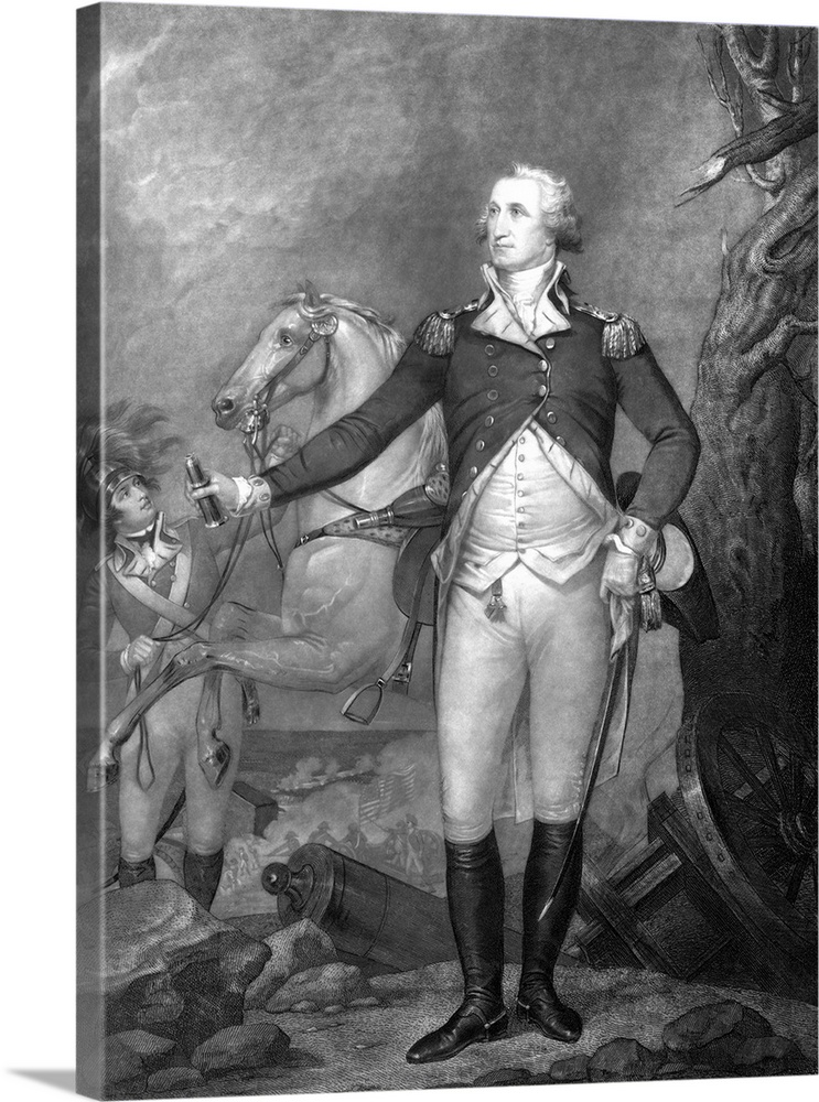 graphic regarding Printable Pictures of George Washington identified as Traditional American Record print of In general George Washington at The Beat of Trenton