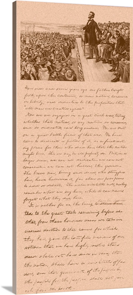 graphic regarding Gettysburg Address Printable titled Basic Civil War technology print of President Abraham Lincoln and Gettysburg Deal with