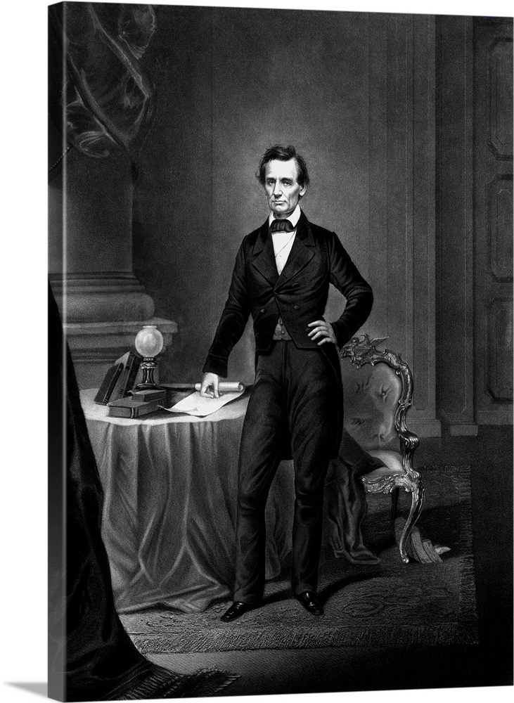 photo regarding Printable Pictures of Abraham Lincoln identify Traditional Civil War technology print of President Abraham Lincoln name in close proximity to a desk