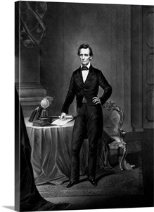 Vintage Civil War Era Print Of President Abraham Lincoln