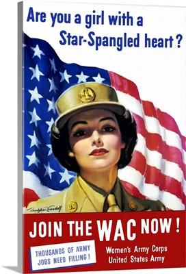 Vintage World War II poster of a member of The Women's Army Corps