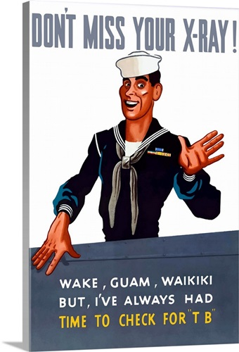 Vintage World War Ii Poster Of A Sailor Waving Goodbye Wall Art Canvas Prints Framed