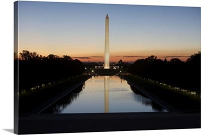 Washinton Monument at sunset, Washinton D.C., USA