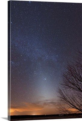 Zodiacal Light and Milky Way over the Texas plains