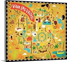 Illustrated Map of Las Vegas
