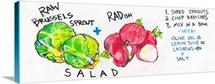 Raw Brussels Sprout & Radish Salad