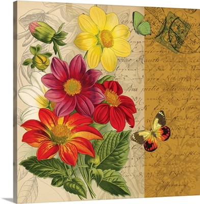 Bookmark Botanical - Dahlia