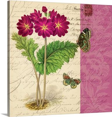 Bookmark Botanical - Primrose