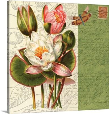 Bookmark Botanical - Water Lily