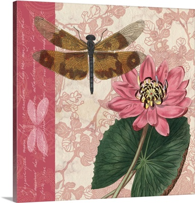 Dragonflies and Water Lilies II